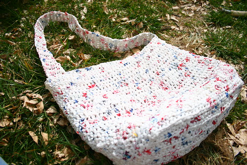 Crochet Pattern For Bags Plastic : Crocheted plastic bag Flickr - Photo Sharing!