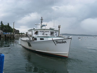 "Lobsterman Bob Baines' Boat, the ""Thrasher"" 