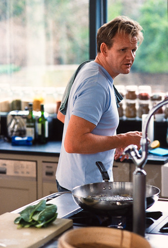 Gordon ramsay in his kitchen i 39 ve been scanning some old for Gordon ramsay home kitchen