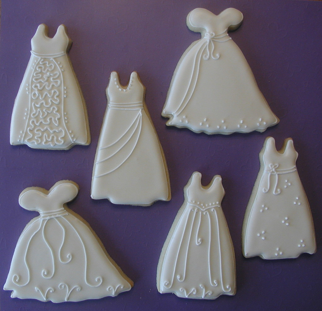 Wedding dress cookies wedding dresses made for a bridal for The loft dresses for a wedding