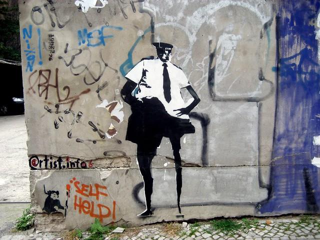 kowalski paste up banksy in berlin flickr photo sharing. Black Bedroom Furniture Sets. Home Design Ideas