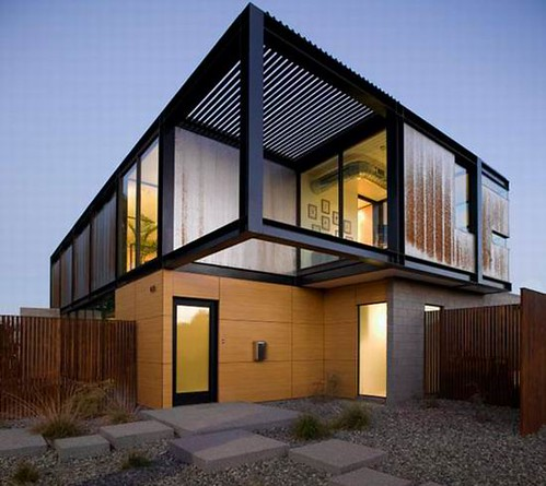 Sosnowksi Residence 1 Facade Minimalist Front House Design