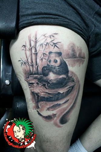 panda tattoo shanghai tattoo flickr. Black Bedroom Furniture Sets. Home Design Ideas