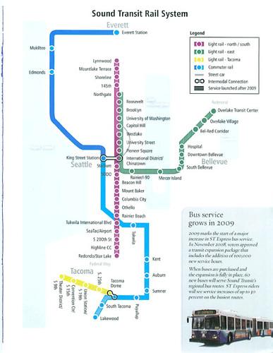 Sound Transit Rail System  A Diagrammatic Representation
