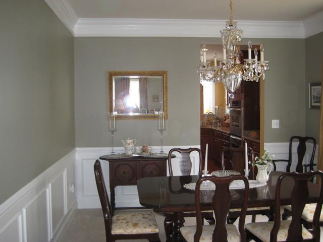 Real Homes Gray Green Dining Room Ellen Kennons Ashen
