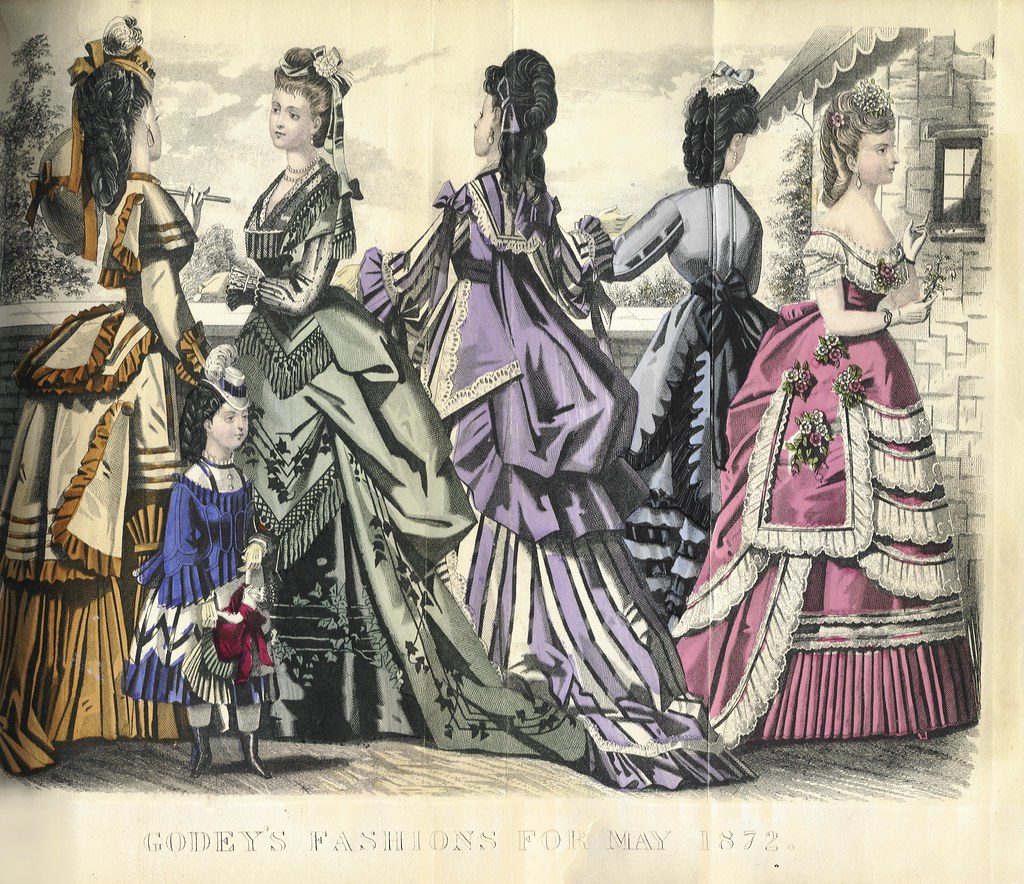 Godey S Lady S Book May 1872 Fashion Plate Godey S Lady