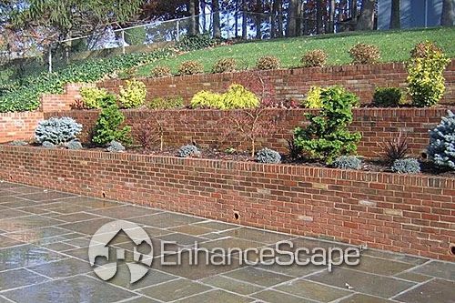 Classic Brick Retaining Wall For Your Patio This