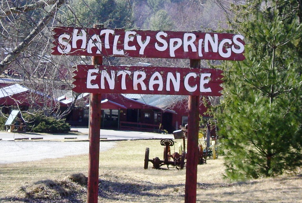 Shatley Springs Entrance Sign Ashe County This Place Has