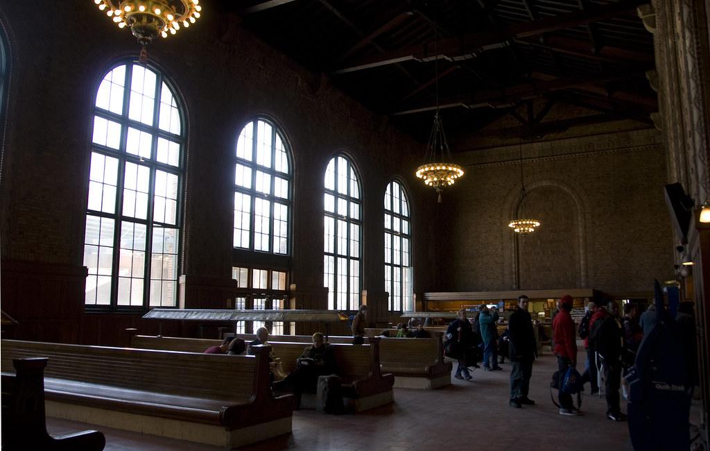 Exterior: Poughkeepsie Train Station Ticket Line