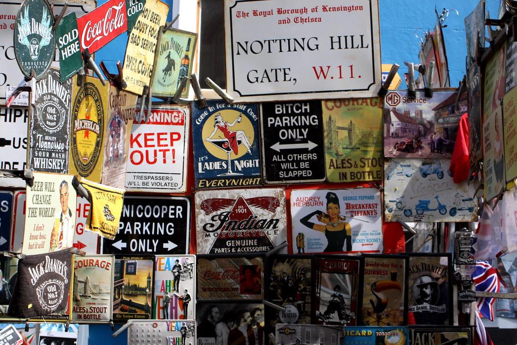 portobello market signs for sale notting hill london flickr. Black Bedroom Furniture Sets. Home Design Ideas