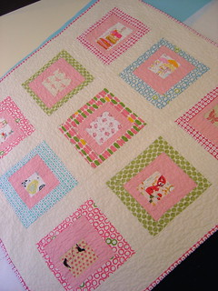 Girly Baby Quilt | by alissahcarlton