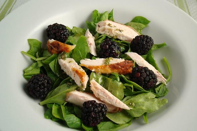 Chicken and Blackberry Salad   Flickr - Photo Sharing!