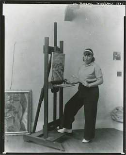 Nan Mason, American painter, 1896-1982, at work in her studio, Woodstock, New York | by Smithsonian Institution