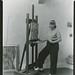 Nan Mason, American painter, 1896-1982, at work in her studio, Woodstock, New York