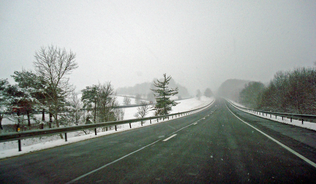 2009 01 19 01 Snow On I 81 Southbound On I 81 In An