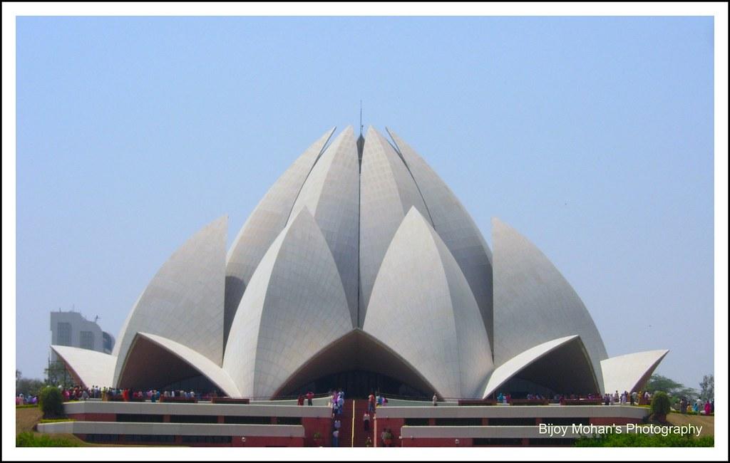 Lotus Temple Delhi Located In Kalkaji In The South Of