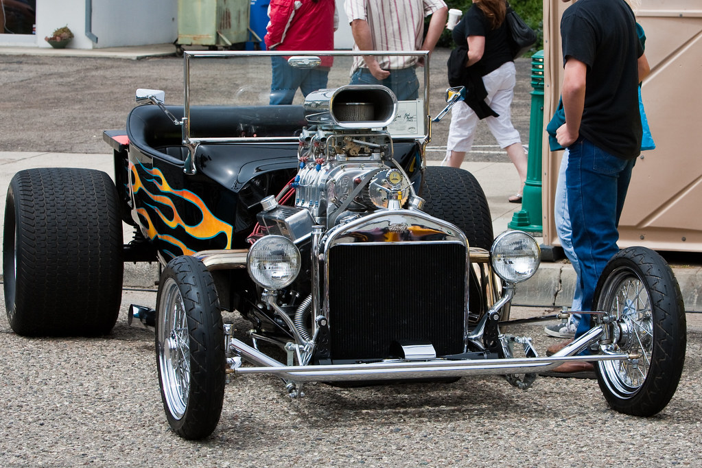 Classic T Bucket Hotrod Scene From Crusin 2009 Morro Bay