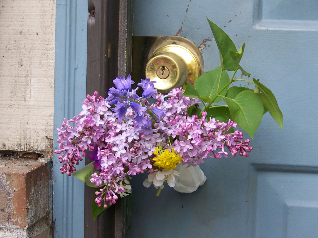 May Flowers on the Doorknob | Each of the cross quarter days… | Flickr