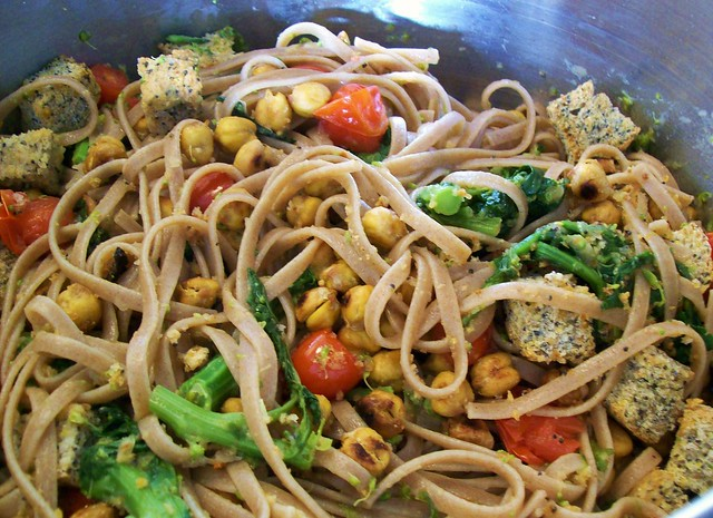 Summer Pasta with Broccoli Rabe and Croutons | Flickr - Photo Sharing!