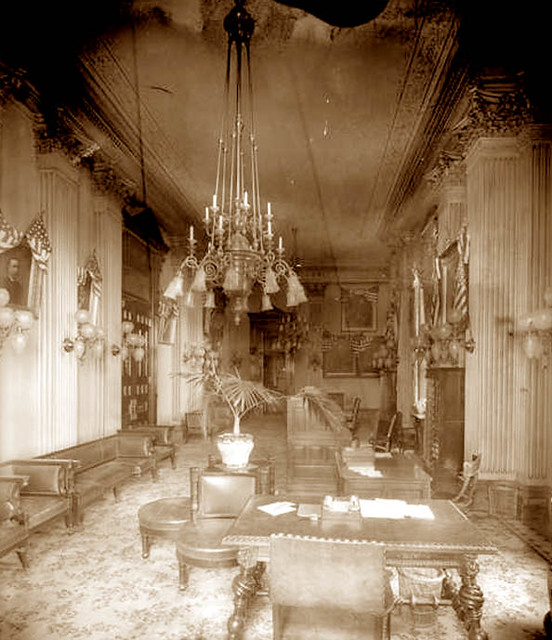 White House Interior 1900 39 S Gaswizard Flickr
