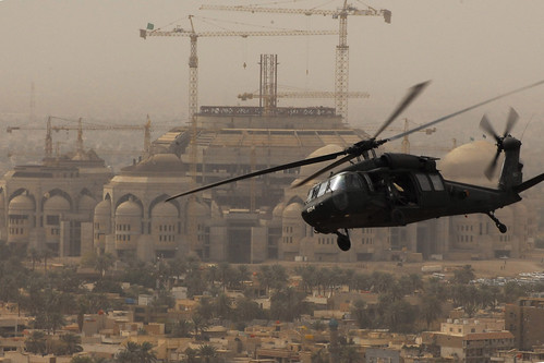 Helicopter over Baghdad | by The U.S. Army