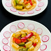 Scallop and vegetable tostadas