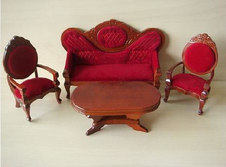 Old fashioned sofa set 1 12 scale luling cai flickr for Old fashioned couch