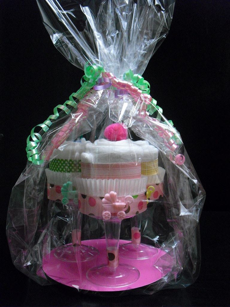 What To Wrap A Diaper Cake In