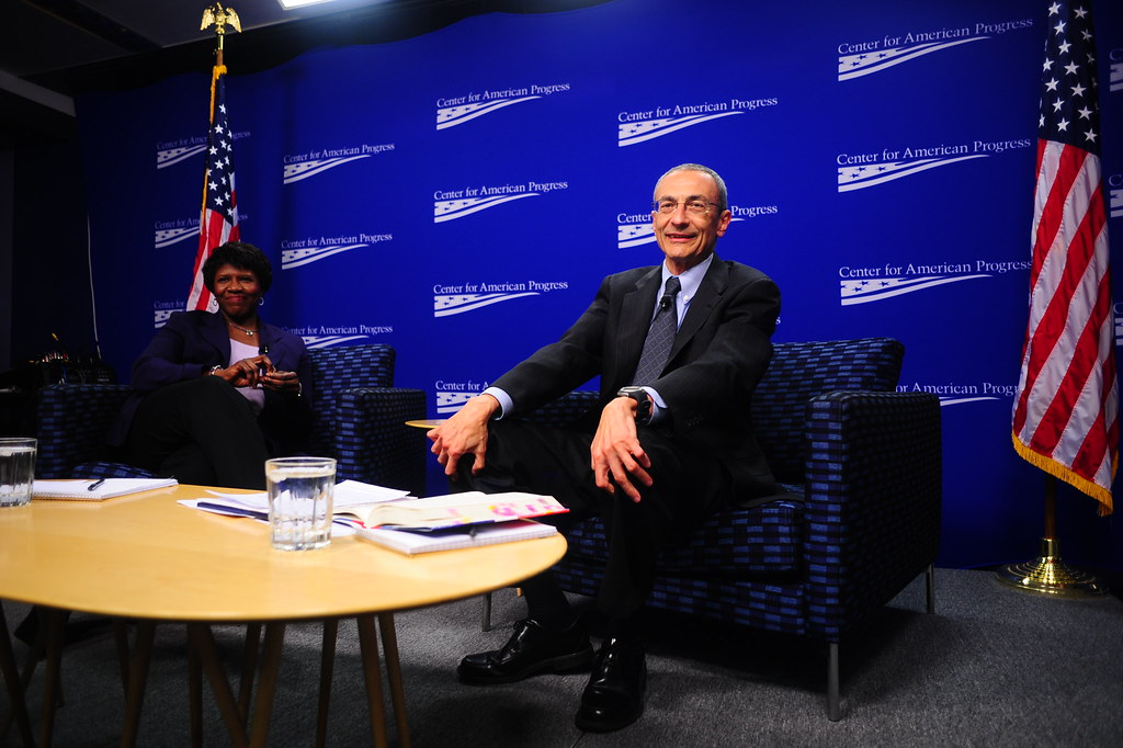 Gwen Ifill and John Podesta  In The Breakthrough, veteran j