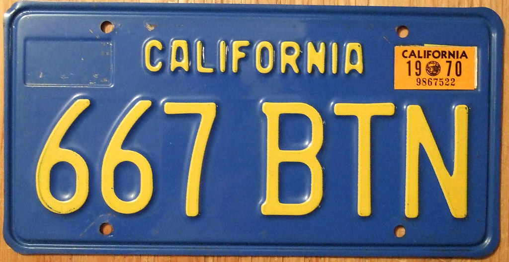 california 1970 license plate blue baseplate jerry woody flickr. Black Bedroom Furniture Sets. Home Design Ideas