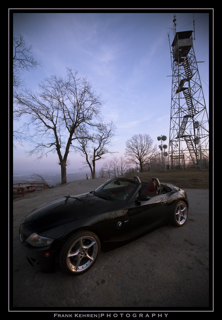 Bmw Z4 At Rockwood Fire Tower Bmw Z4 At Rockwood Fire