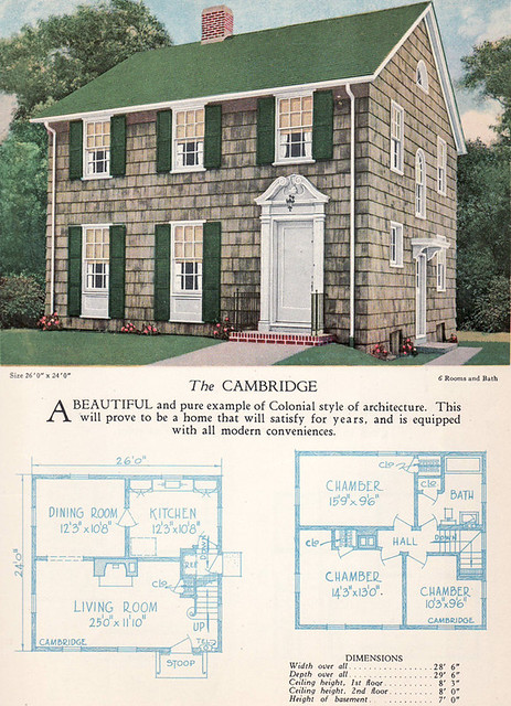 1928 Home Builders Catalog The Cambridge