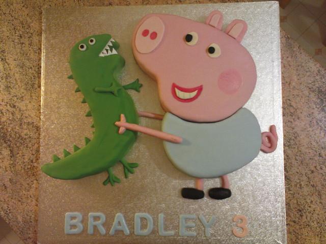 Peppa Pig Cake Its George Amp His Dinosaur Samwebster