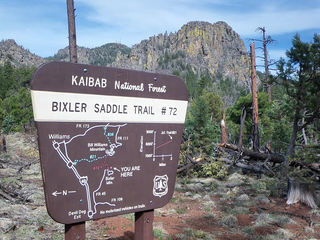 Bixler Saddle Trailhead sign - Kaibab National Forest   Flickr