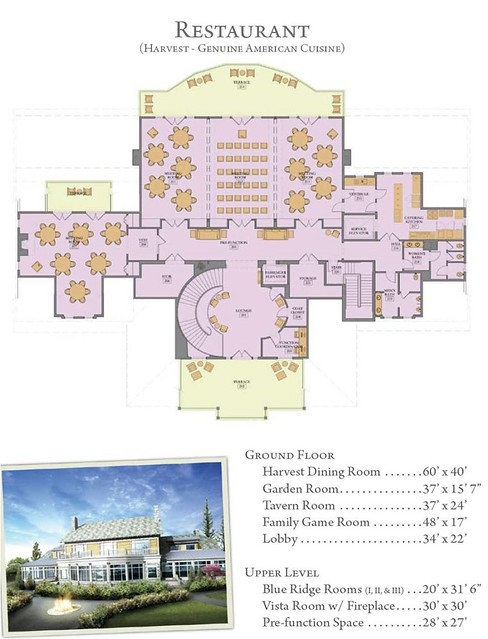 The Hotel Hershey Harvest Restaurant floor plan | Hershey Harrisburg ...