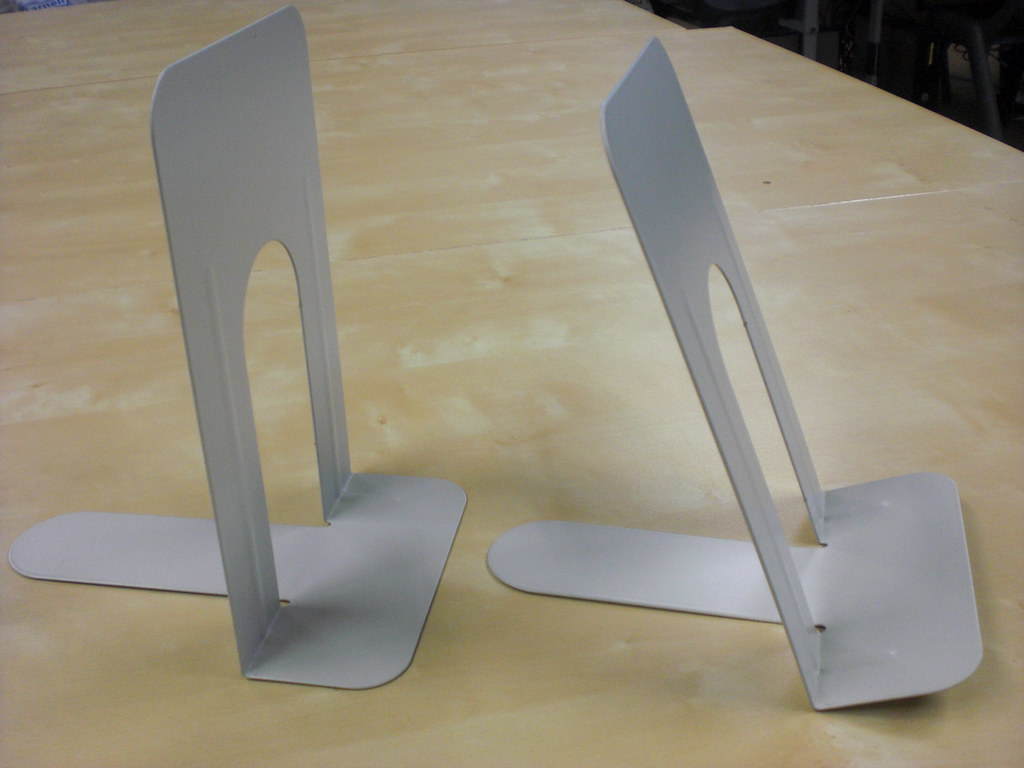 How To Make A Book Holder : Bend metal bookends to make a book holder katie day flickr