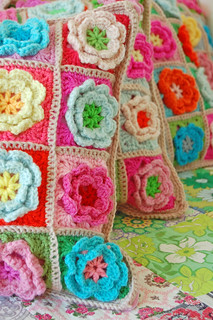 crochet pillows... | by rose hip...
