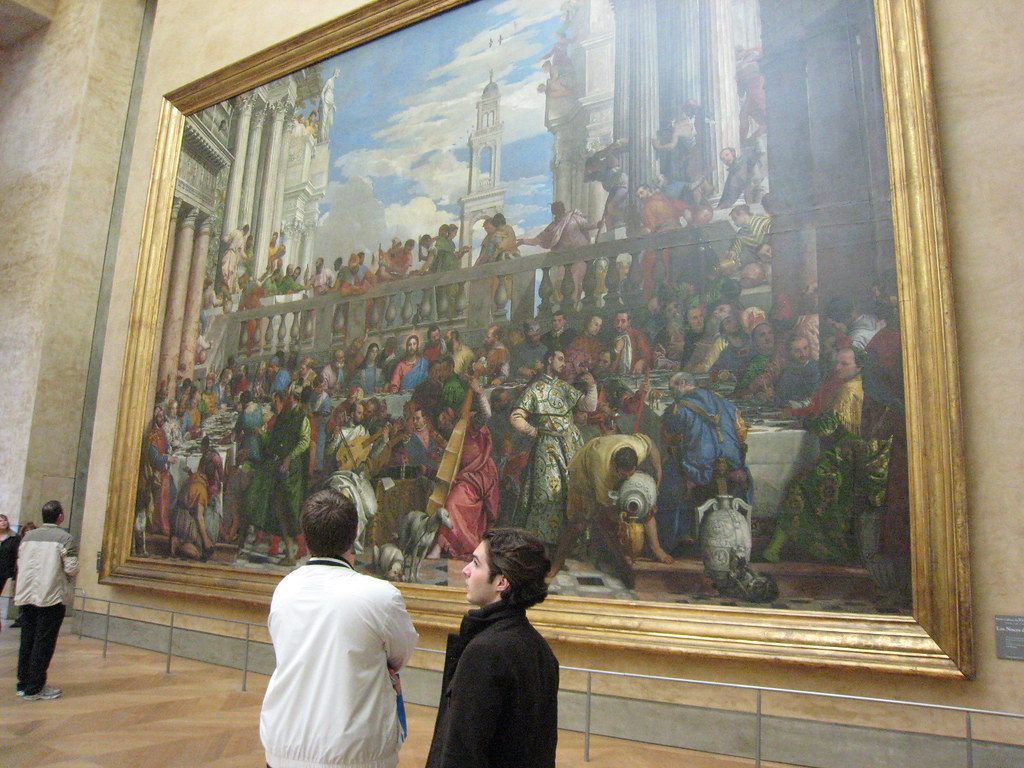 Huge Painting In Room With Mona Lisa