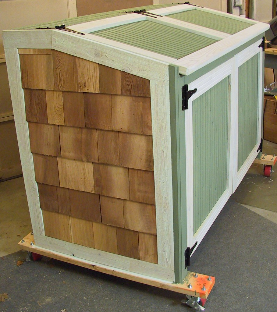 Garbage Can Storage Shed | Matches the other cedar shed ...