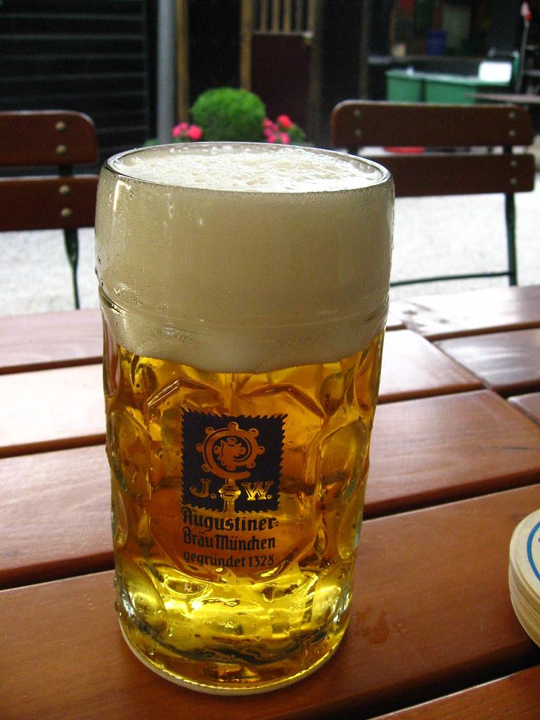 Ein Maß at Augustiner Biergarten   The best way to enjoy
