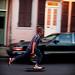 Skater on Royal Street