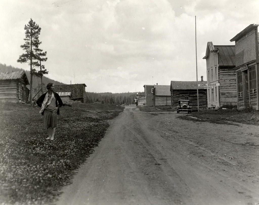 main street cooke city montana ca1920s lida haynes