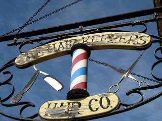 Barbershop Sign, Downtown Wabasha