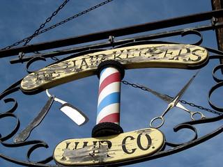 Barbershop Sign, Downtown Wabasha