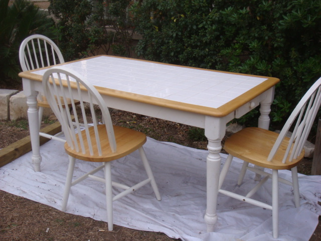 Tile top Country Style Dining Table 120 bunsaloo Flickr