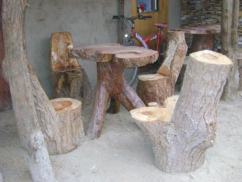 Muebles rusticos de troncos flickr photo sharing - Muebles con troncos ...