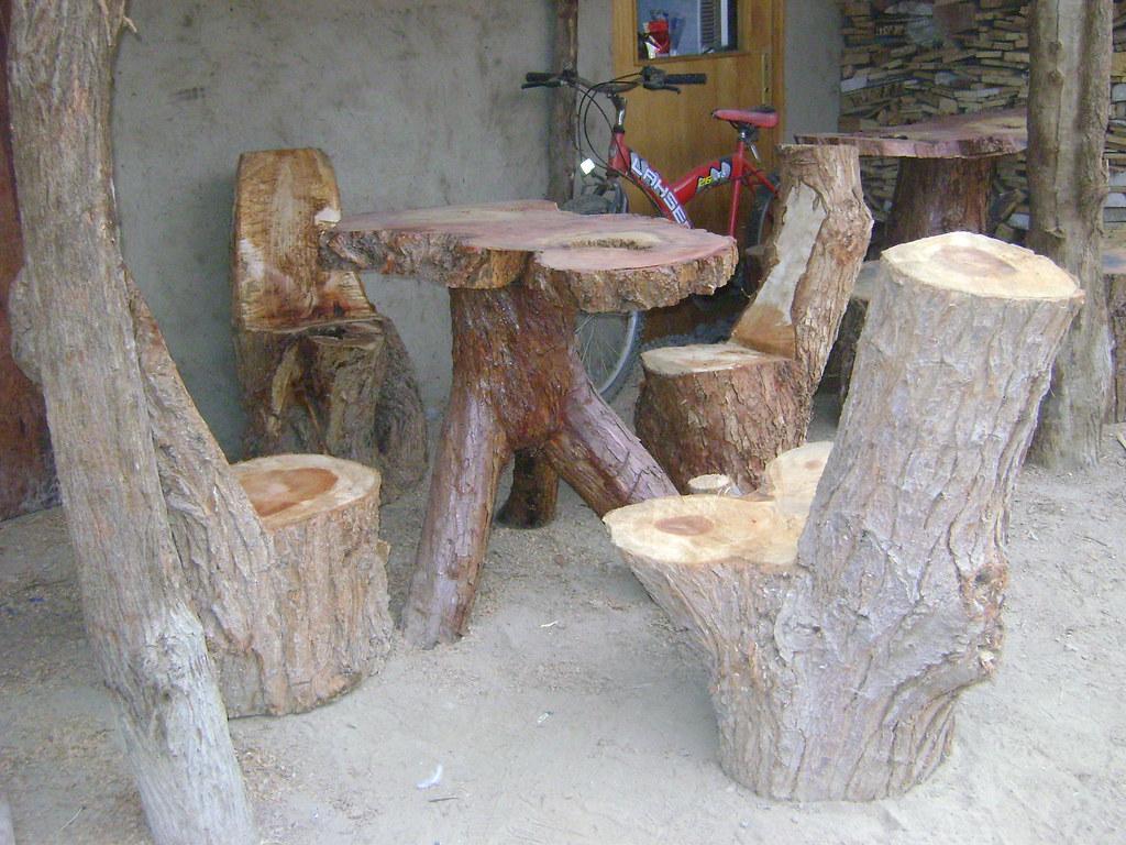 muebles rusticos de troncos mesa de tronco de molle con