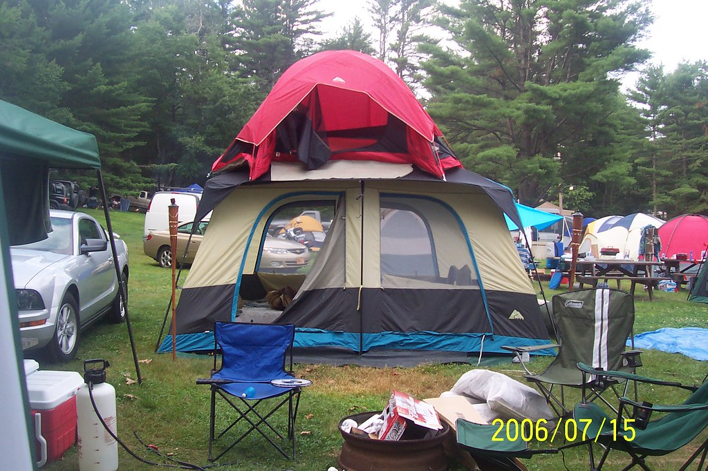 2 Story Tent Loudon 06 Cascade Campground Loudon Nh