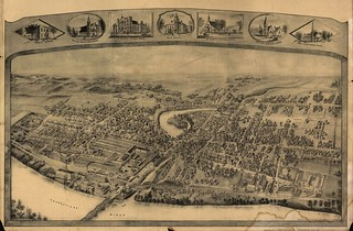 [Bird's-eye view of Thompsonville (now Enfield), Connecticut.] | by uconnlibrariesmagic