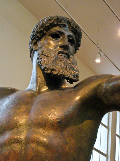 artemision bronze poseidon info It would have contained, at one end facing the entrance, the cult image, a colossal, ceiling-height (6 metres (20 ft)) bronze statue of poseidon.